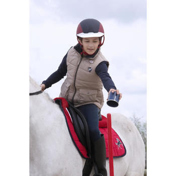 Gilet chaud équitation fille PADDOCK - 1048815