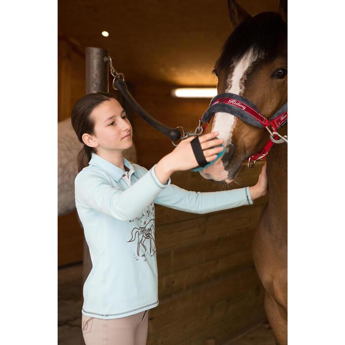 Pantalon équitation enfant FULLSEAT noir et - 1048818