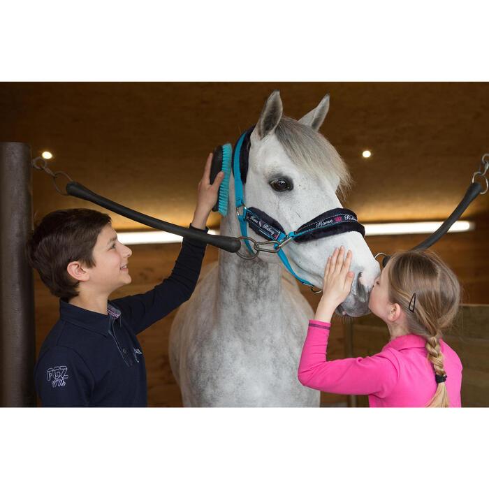 Polo manches longues équitation garçon HORSE - 1048821