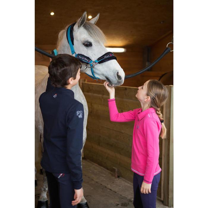 Pantalon équitation enfant FULLSEAT noir et - 1048824