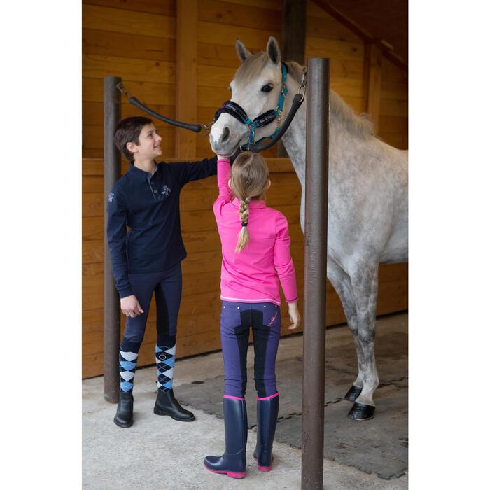 Pantalon équitation enfant FULLSEAT noir et - 1048825