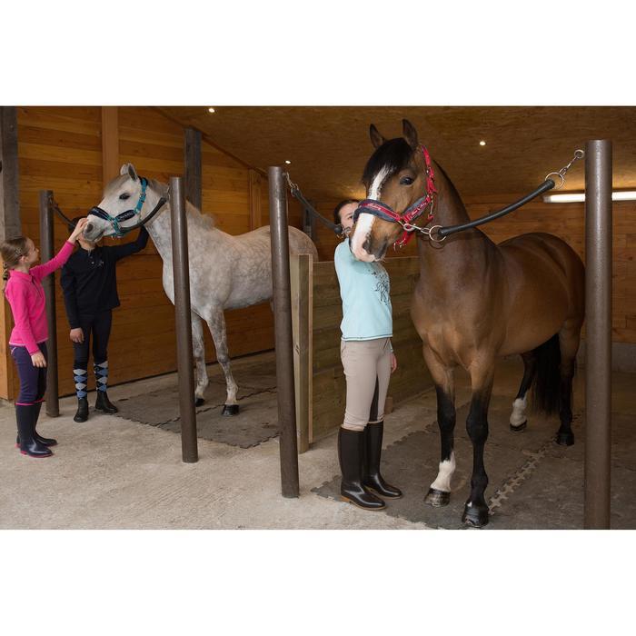 Pantalon équitation enfant FULLSEAT noir et - 1048826