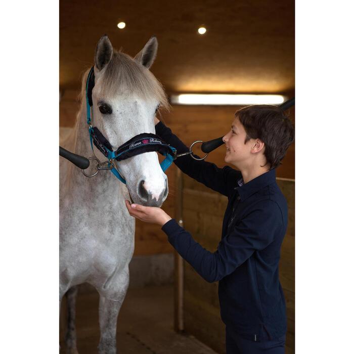 Polo manches longues équitation garçon HORSE - 1048827