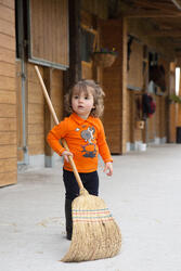 Polo met lange mouwen voor peuters ruitersport - 1048831
