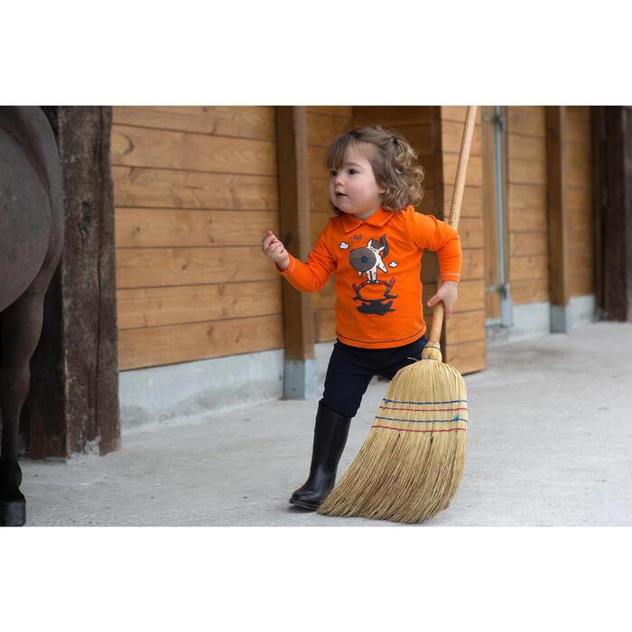 Balai d'écurie en paille de riz équitation jaune pâle - 1048836