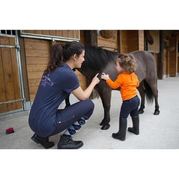 Polo ruitersport lange mouwen peuters camel ponymotief - 1048857