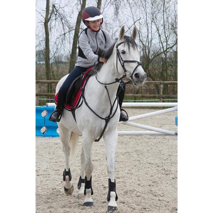 2 protectores abiertos equitación poni y caballo RIDING negro