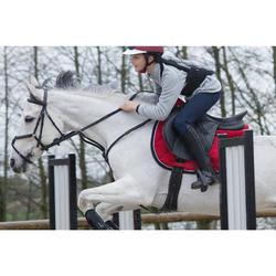 Pantalón Equitación Fouganza Warm Niño Azul Marino Cálido Badana de Tela