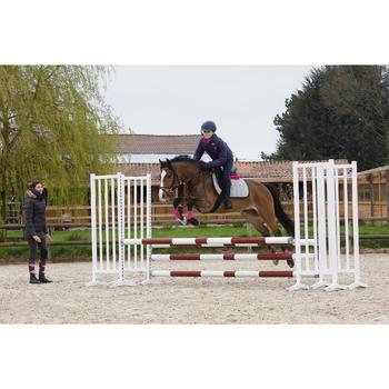 Pechopetral + gamarra equitación Fouganza SCHOOLING caballo negro
