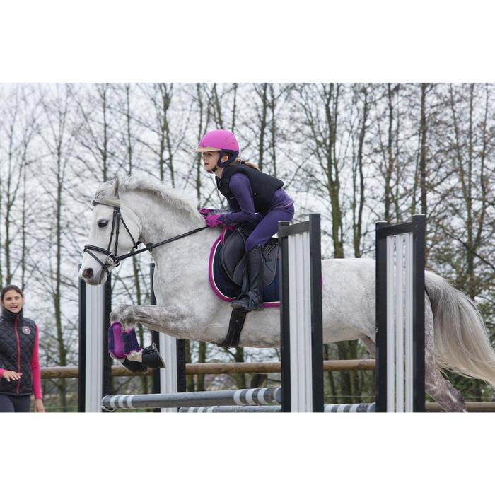 """Selle mixte synthétique à arçon réglable équitation cheval RIDE 2 noir 17""""5 - 1048886"""