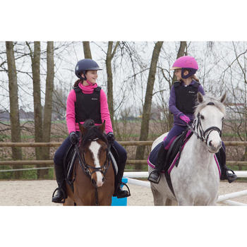 Chaleco de protección equitación niños SAFETY 100 negro