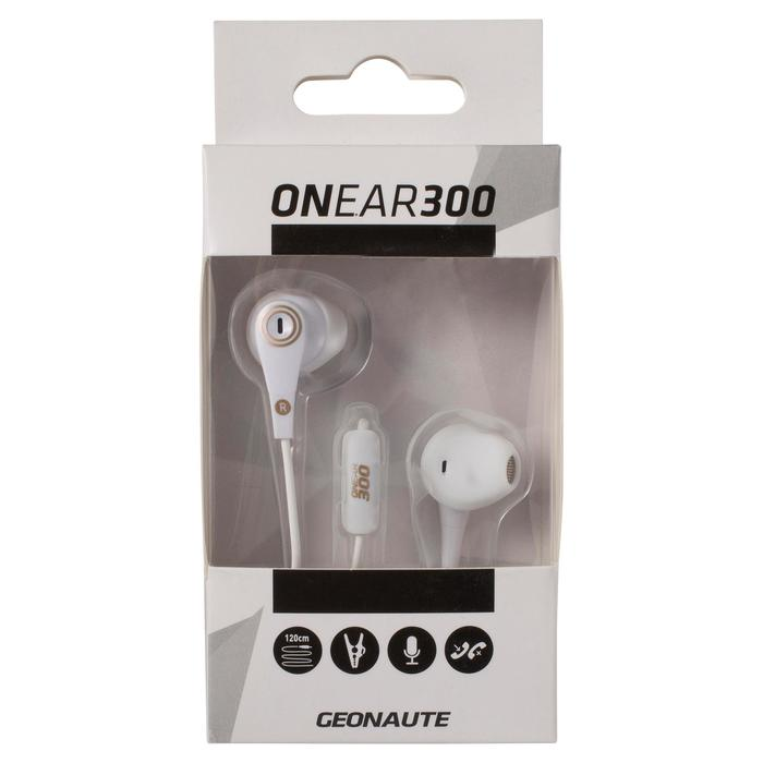 ONear 300 Wired Sports Earphones With Microphone - Black Red - 1048988