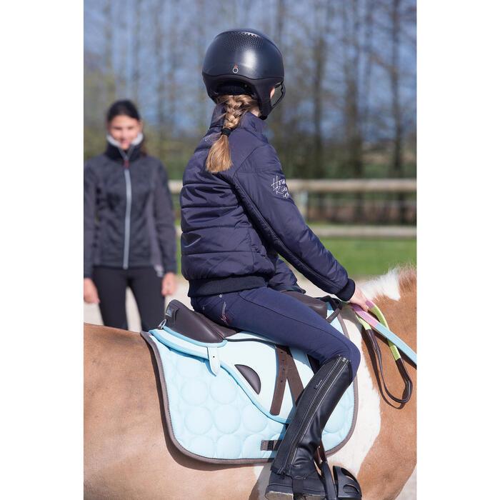 Pantalon équitation enfant FULLSEAT noir et - 1049018