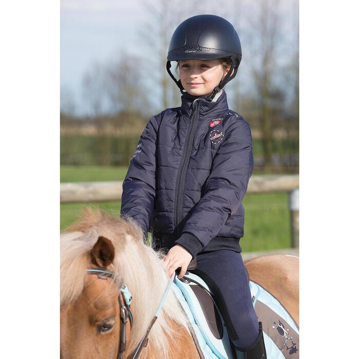 Pantalon équitation enfant FULLSEAT noir et - 1049019