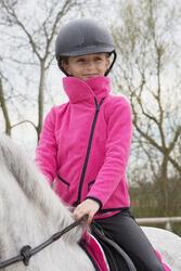 Meisjesfleece Paddock ruitersport fuchsia - 1049048