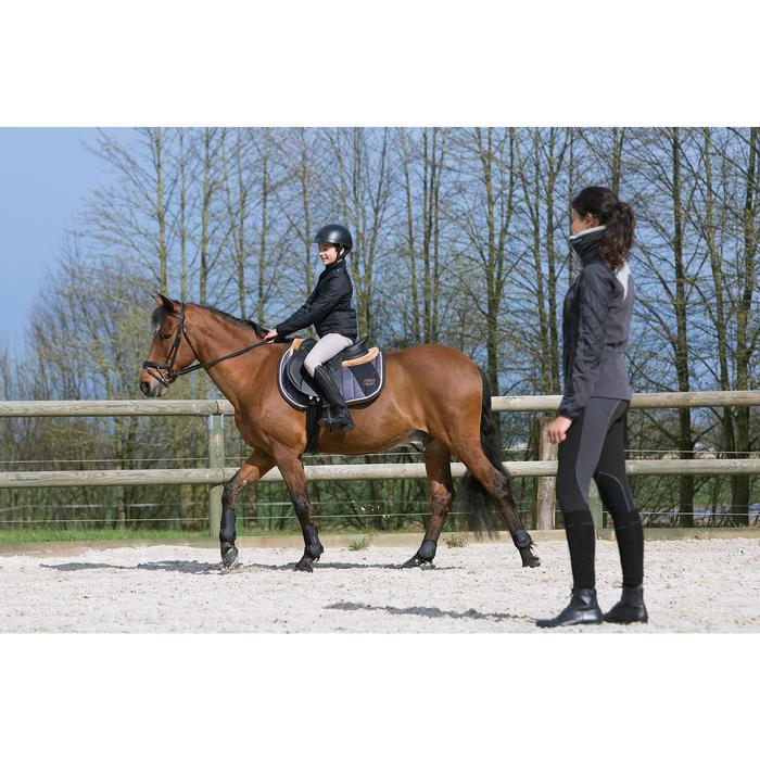 Pantalon équitation enfant schooling basane marron clair - 1049053