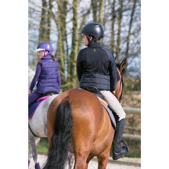 Pantalon équitation enfant schooling basane marron clair - 1049062
