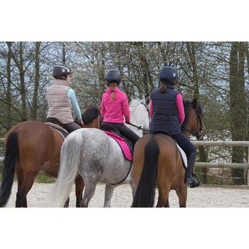 Chaleco cálido equitación niños PADDOCK azul marino