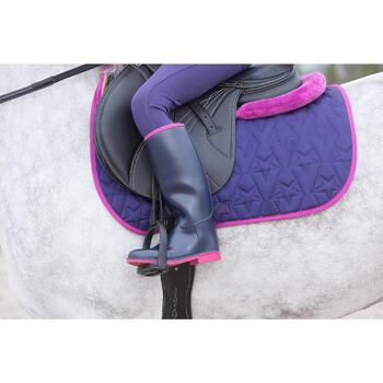 Bottes équitation enfant SCHOOLING 300 bleu - 1049100