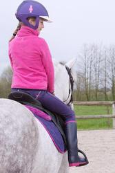 Meisjesfleece Paddock ruitersport fuchsia - 1049104
