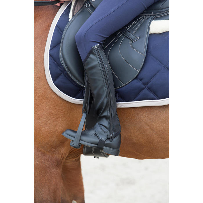 Boots équitation adulte et enfant CLASSIC cuir noir