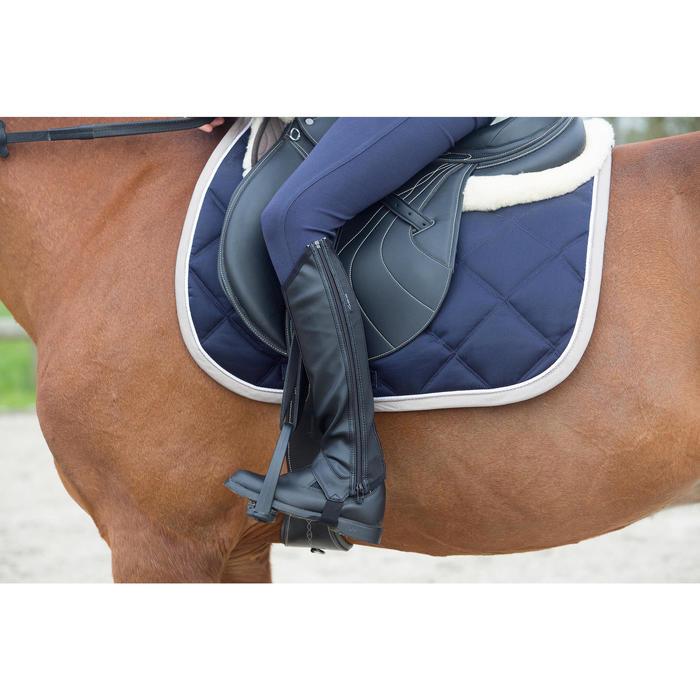 Pantalon équitation enfant FULLSEAT noir et - 1049134