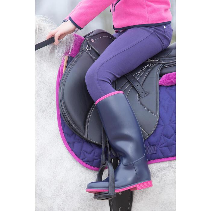 Bottes équitation enfant SCHOOLING 300 bleu - 1049136