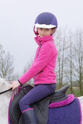 Meisjesfleece Paddock ruitersport fuchsia - 1049140