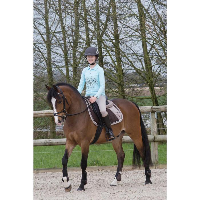 Pantalon équitation enfant schooling basane marron clair - 1049142
