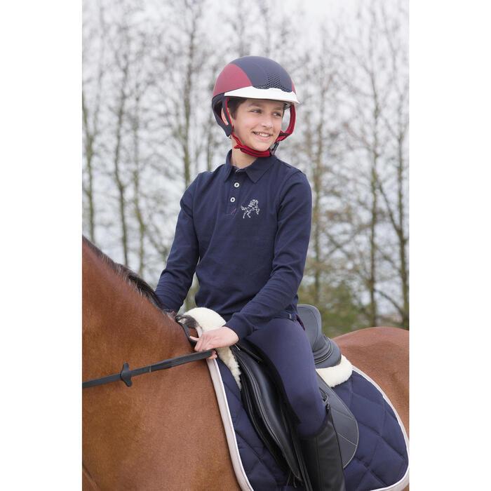Pantalon équitation enfant FULLSEAT noir et - 1049147