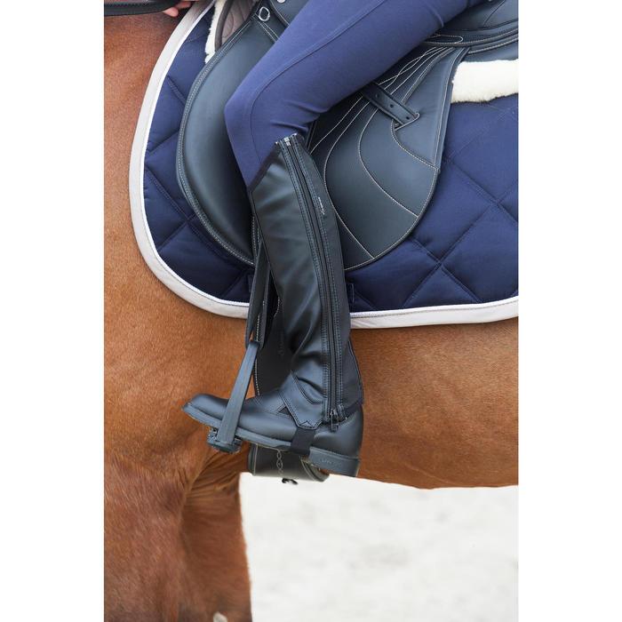 Mini-chaps équitation enfant ClASSIC 100 synthétique noir - 1049149