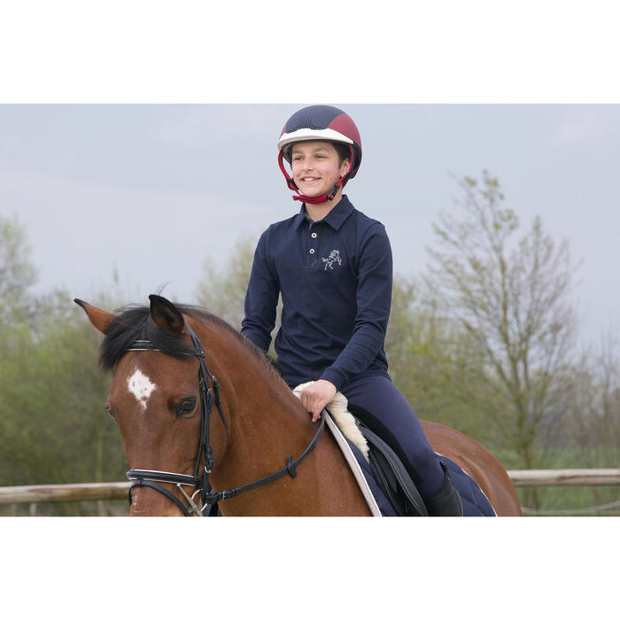 Polo manches longues équitation garçon HORSE - 1049150