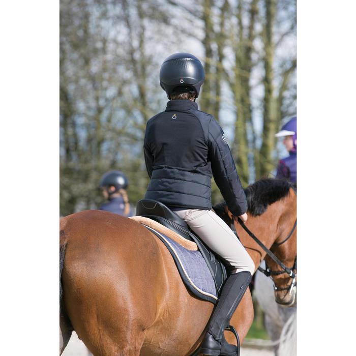 Pantalon équitation enfant schooling basane marron clair - 1049152