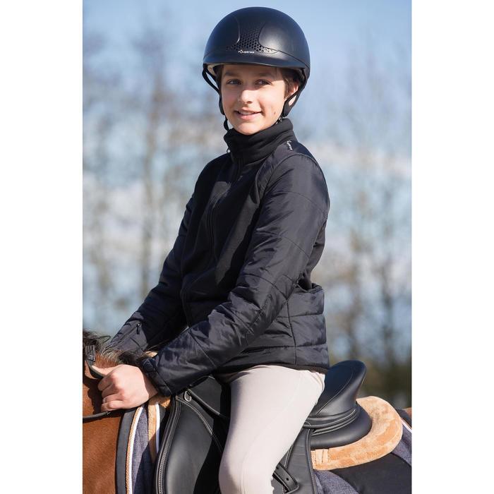 Pantalon équitation enfant schooling basane marron clair - 1049160