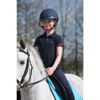 Kinderpolo Horseriding met korte mouwen en borduursel, ruitersport - 1049161