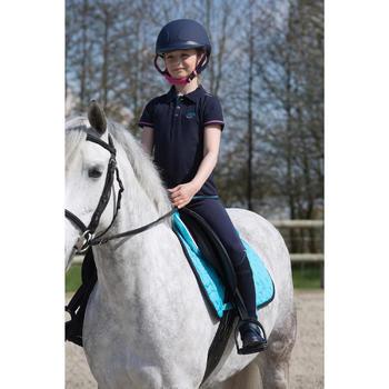 Pantalon équitation enfant FULLSEAT noir et - 1049164