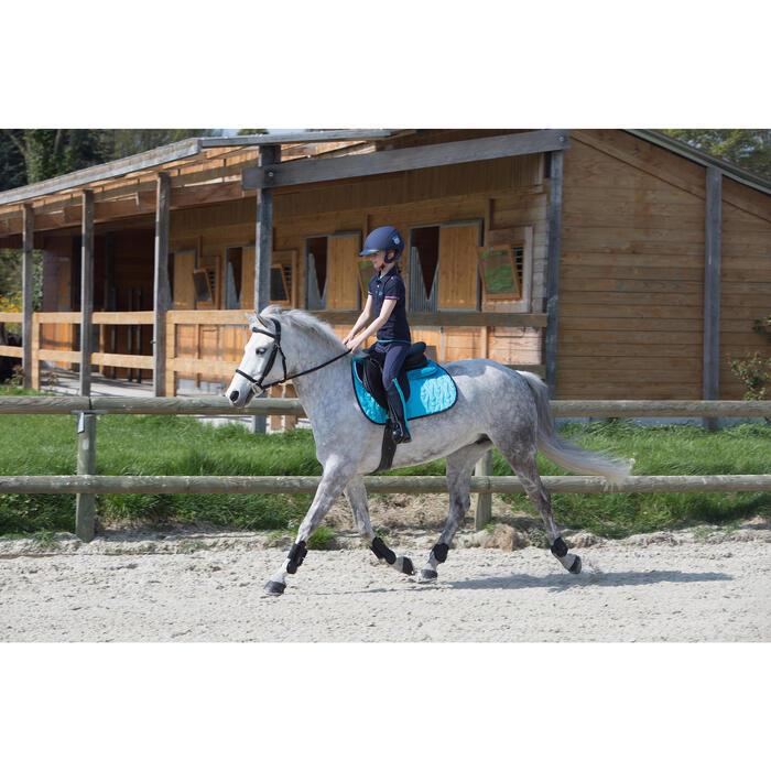 Pantalon équitation enfant FULLSEAT noir et - 1049175