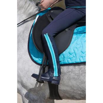 Pantalon équitation enfant FULLSEAT noir et - 1049176