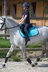 Kinderpolo Horseriding met korte mouwen en borduursel, ruitersport - 1049179