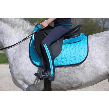 Amortisseur de dos mousse équitation cheval et poney LENA POLAIRE turquoise