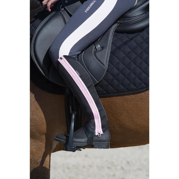 Boots équitation enfant et adulte SCHOOLING 100 noir - 1049181