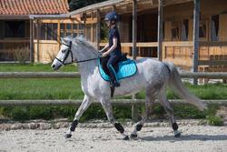 Kinderpolo Horseriding met korte mouwen en borduursel, ruitersport - 1049182