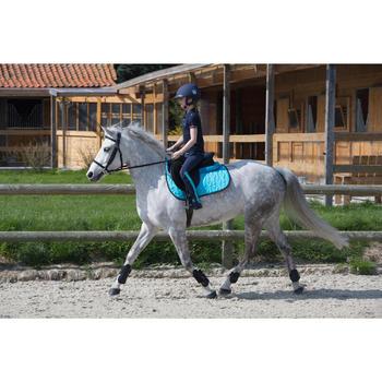 Polo manches courtes équitation enfant brodé HORSERIDING marine - 1049182