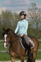 Onderlegger schuim ruitersport - paar en pony LENA POLAIRE - 1049368