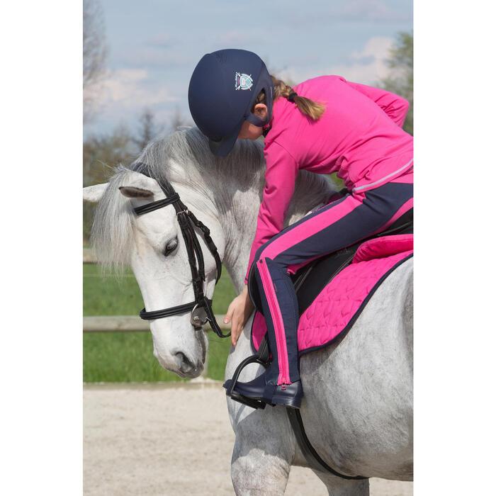 Filet + rênes équitation SYNTHIA noir - taille cheval - 1049373
