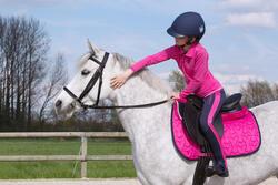 Hoofdstel + teugels Synthia ruitersport zwart - paard - 1049376