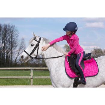 Filet + rênes équitation SYNTHIA noir - taille cheval - 1049376