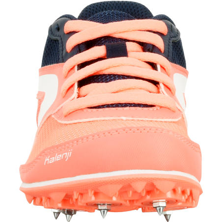 CHILDREN'S ATHLETICS SHOES WITH SPIKES - CORAL BLUE