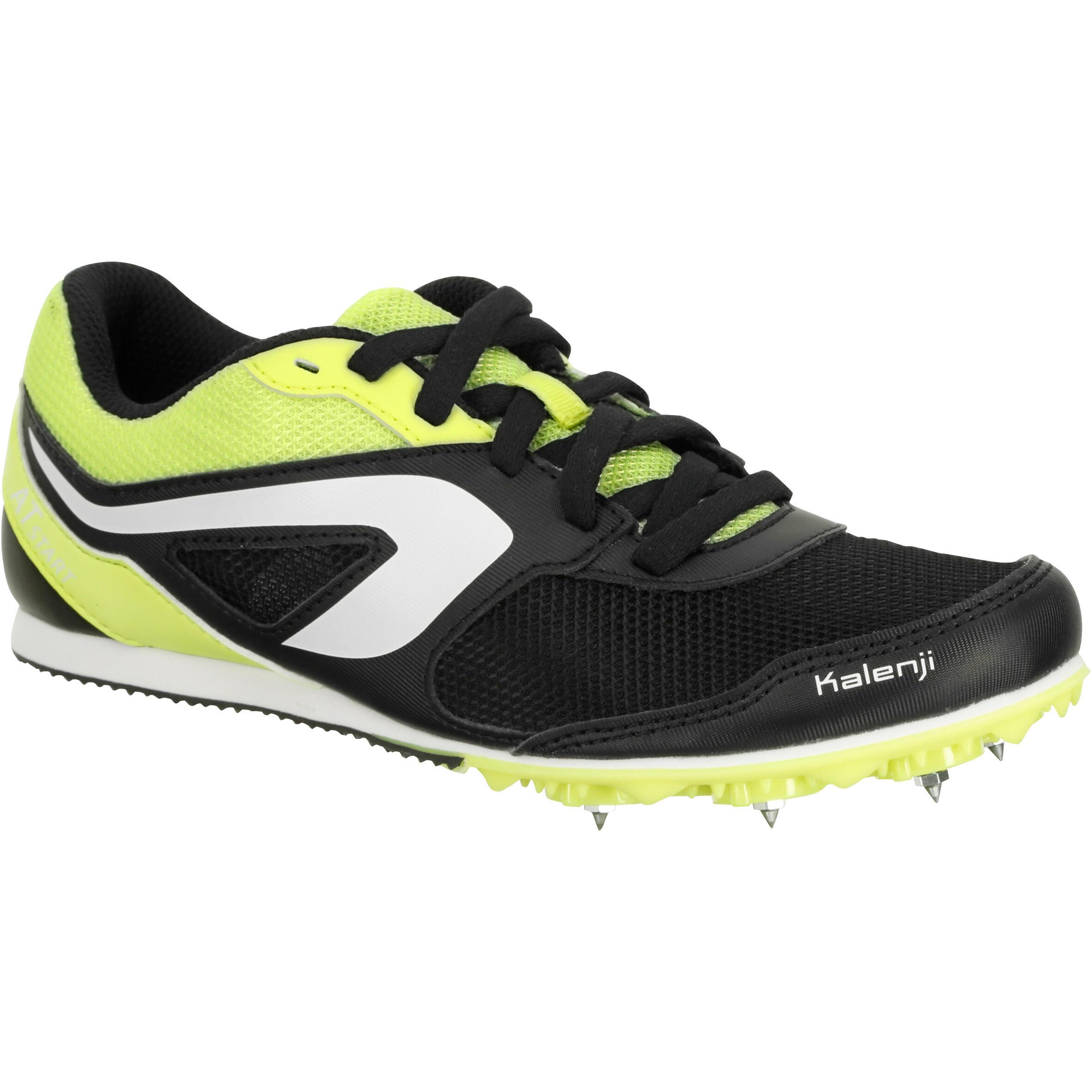 D'athletisme A Polyvalente Noire Pointes Jaune Chaussure Enfant Pkn80Ow