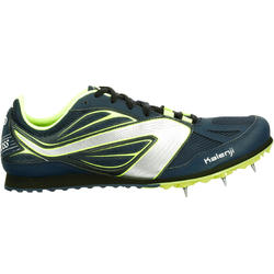 TRACK & FIELD CROSS-COUNTRY RUNNING SHOES WITH SPIKES NAVY YELLOW